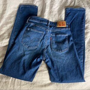 Levi Classic Mid Rise Skinny Denim Jeans